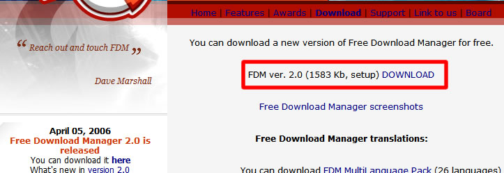 FDM Download Page
