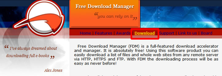 Free Download Manager Home Page