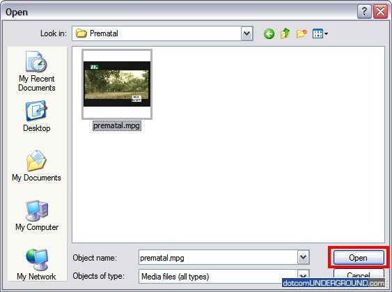 Media Player Classic Open File