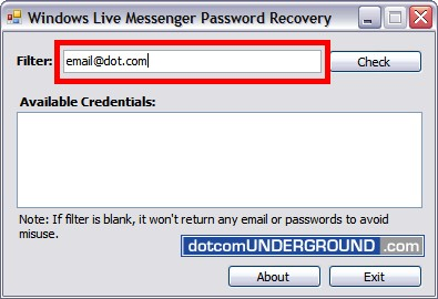 Hack Windows Live Messenger Password