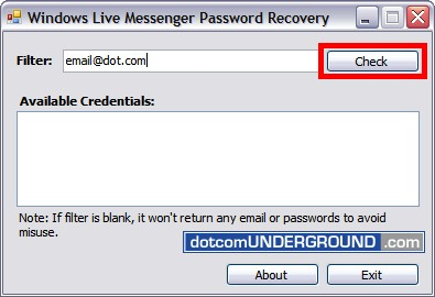Hack MSN Messenger Password