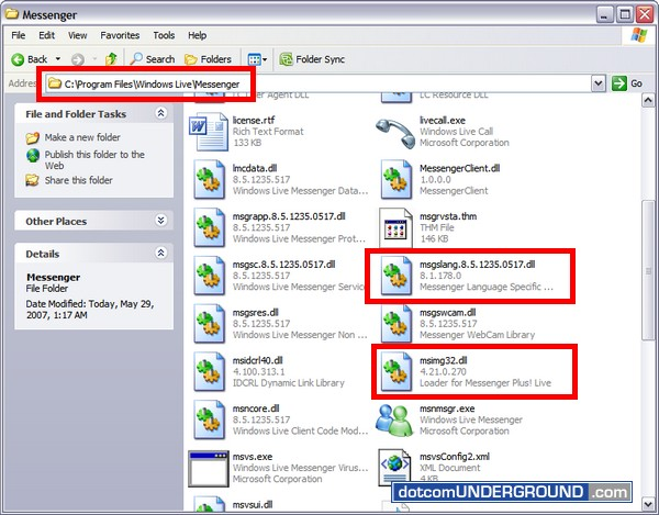 Windows Live Messenger 8.5 - Copy Files