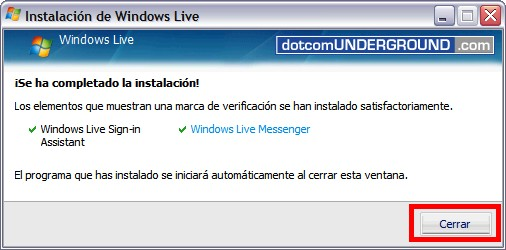 Windows Live Messenger 8.5 - Finish