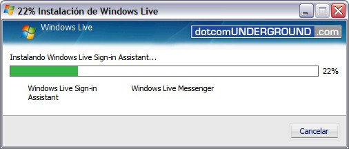 Windows Live Messenger 8.5 - Installing…