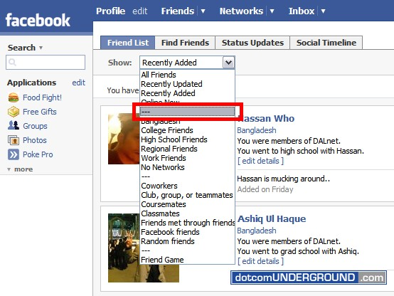 Facebook Hack: Grid view of your friend list