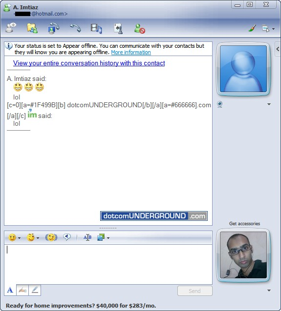 Windows Live Messenger 9.0 Beta - Conversation Window