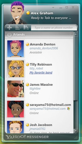 Yahoo Messenger for Windows Vista