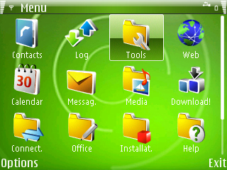 Windows Mobile 6 Theme for Symbian S60 - WM6 HTC Green Theme
