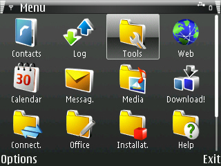 Windows Mobile 6 Theme for Symbian S60 - WM6 Black Theme