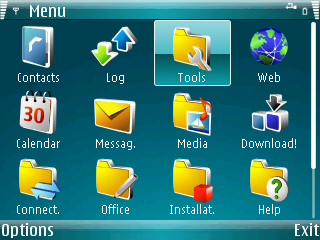 Windows Mobile 6 Theme for Symbian S60 - WM6 Blue Theme