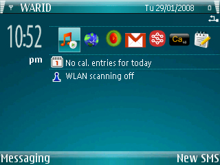 Windows Mobile 6 Theme for Symbian S60 - WM6 Blue