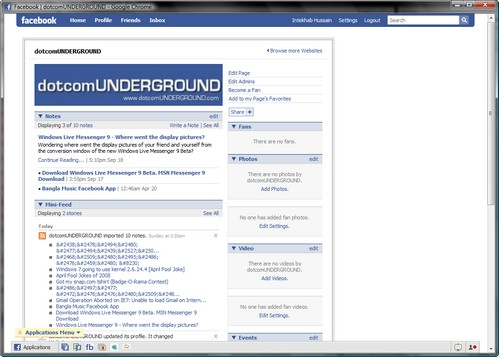 dotcomUNDERGROUND on Facebook