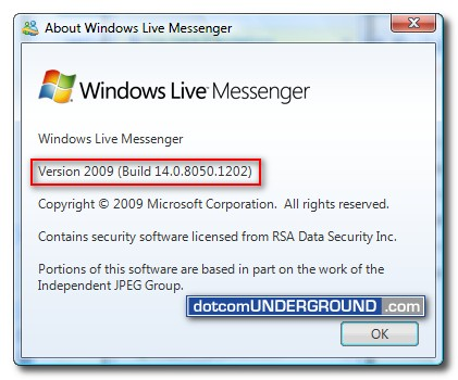 Windows Live Messenger 2009 Final build 14.0.8050.1202