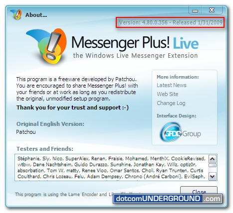 Messenger Plus! 2009 Final