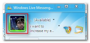 MSN Messenger Dynamic Display Picture with Own Face - Main Window