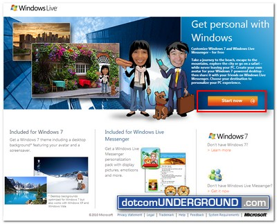 Windows Experience Pack - Start