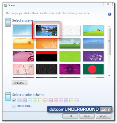 Windows Experience Pack - Windows Live Messenger Scene